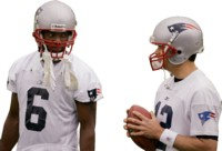 Randy Moss and Tom Brady picture G314126