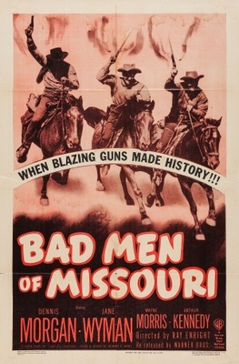 Bad Men of Missouri movie poster (1941) poster MOV_013cfef7