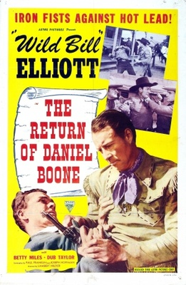 The Return of Daniel Boone movie poster (1941) poster MOV_04580179