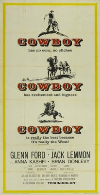 Cowboy movie poster (1958) poster MOV_04e99027