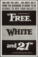 Free, White and 21 movie poster (1963) picture MOV_084597ae