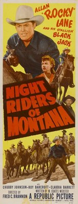 Night Riders of Montana movie poster (1951) poster MOV_0849111e