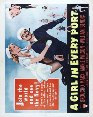 A Girl in Every Port movie poster (1952) poster MOV_08ed4d90