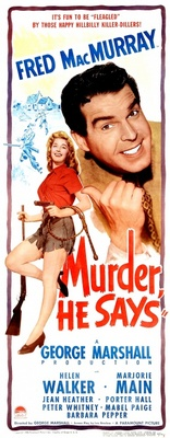 Murder, He Says movie poster (1945) poster MOV_091e9789