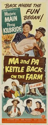 Ma and Pa Kettle Back on the Farm movie poster (1951) poster MOV_0f06f96a