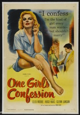 One Girl's Confession movie poster (1953) poster MOV_11c6891b