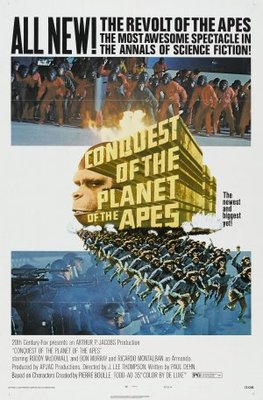 Conquest of the Planet of the Apes movie poster (1972) poster MOV_18380e2c