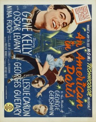 An American in Paris movie poster (1951) poster MOV_1c2e459c