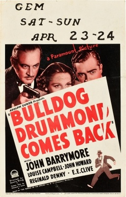 Bulldog Drummond Comes Back movie poster (1937) poster MOV_2712ae63