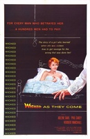 Wicked as They Come movie poster (1956) picture MOV_2731c96f