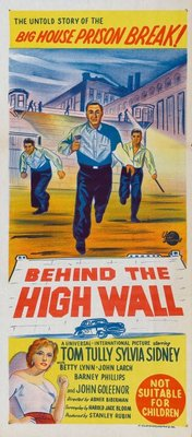 Behind the High Wall movie poster (1956) poster MOV_2a8daabe