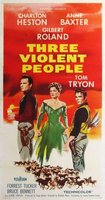 Three Violent People movie poster (1957) picture MOV_2b43a204