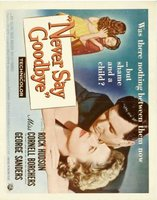 Never Say Goodbye movie poster (1956) picture MOV_2d82a41c