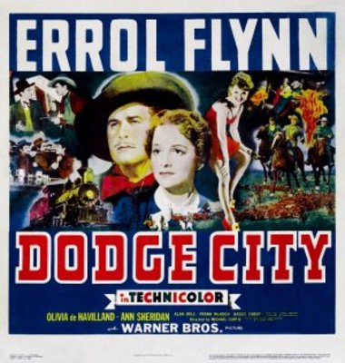 Dodge City movie poster (1939) poster MOV_2dfc7ace