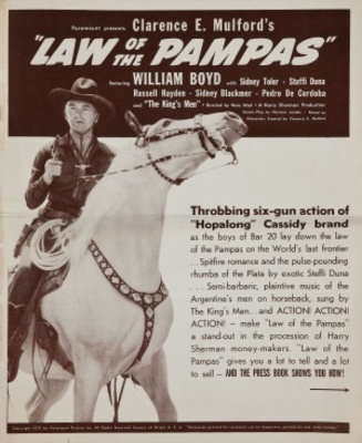 Law of the Pampas movie poster (1939) poster MOV_2f556f88