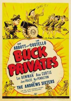 Buck Privates movie poster (1941) poster MOV_304cc6ac