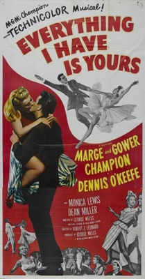 Everything I Have Is Yours movie poster (1952) poster MOV_30f9f014