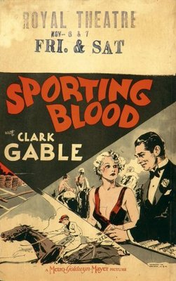 Sporting Blood movie poster (1931) poster MOV_31d566ff