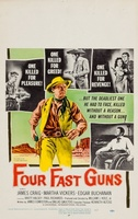 Four Fast Guns movie poster (1960) picture MOV_36a9319e
