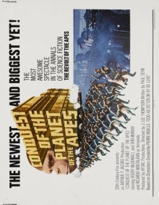 Conquest of the Planet of the Apes movie poster (1972) poster MOV_39138e5f