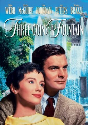 Three Coins in the Fountain movie poster (1954) poster MOV_3a46809f