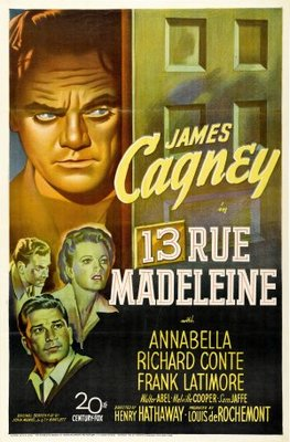 13 Rue Madeleine movie poster (1947) poster MOV_3b0bdd33