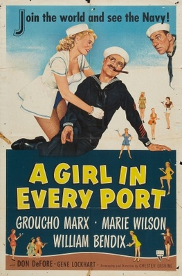 A Girl in Every Port movie poster (1952) poster MOV_3b4d0920