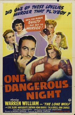 One Dangerous Night movie poster (1943) poster MOV_3d94bf3f