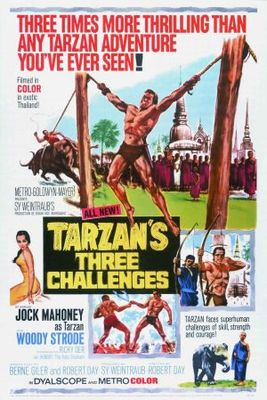 Tarzan's Three Challenges movie poster (1963) poster MOV_3ec92bc6