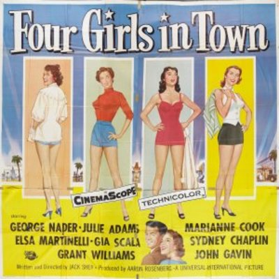 Four Girls in Town movie poster (1957) poster MOV_3efb5afb