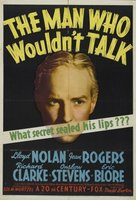 The Man Who Wouldn't Talk movie poster (1940) picture MOV_421d5044