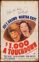 $1000 a Touchdown movie poster (1939) picture MOV_469d90e7