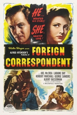 Foreign Correspondent movie poster (1940) poster MOV_4b73550a