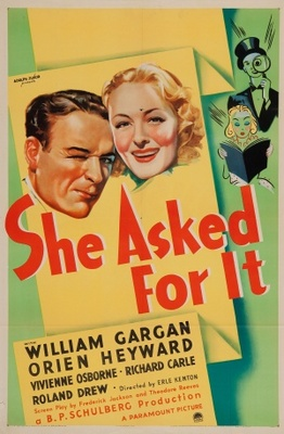 She Asked for It movie poster (1937) poster MOV_53a24e1a