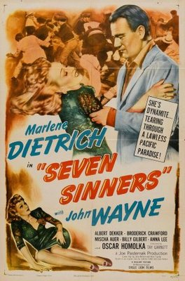 Seven Sinners movie poster (1940) poster MOV_54d49866