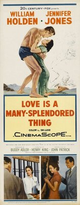 Love Is a Many-Splendored Thing movie poster (1955) poster MOV_565456b8