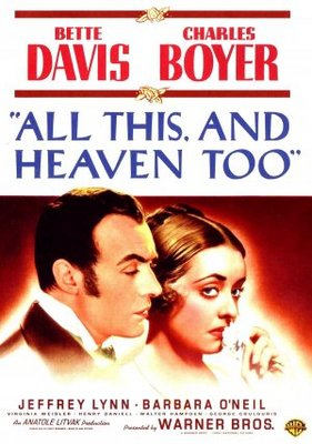 All This, and Heaven Too movie poster (1940) poster MOV_57fe3992