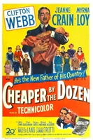 Cheaper by the Dozen movie poster (1950) picture MOV_598225ec