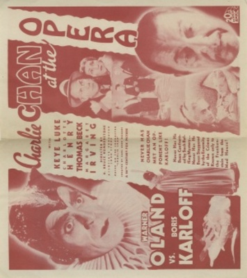Charlie Chan at the Opera movie poster (1936) poster MOV_59981773