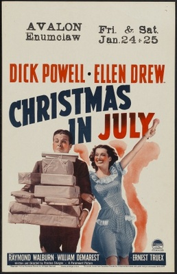Christmas in July movie poster (1940) poster MOV_5d2e4210