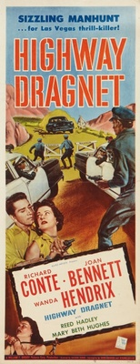 Highway Dragnet movie poster (1954) poster MOV_5da3403e