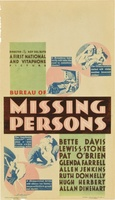 Bureau of Missing Persons movie poster (1933) picture MOV_611eb418
