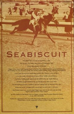 Seabiscuit movie poster (2003) poster MOV_615dcd42