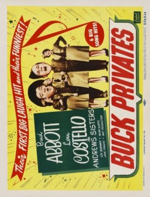 Buck Privates movie poster (1941) poster MOV_63b1de0c