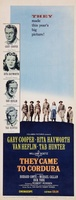 They Came to Cordura movie poster (1959) picture MOV_67defaa8