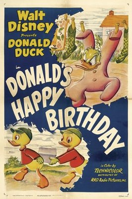Donald's Happy Birthday movie poster (1949) poster MOV_682bc9b7