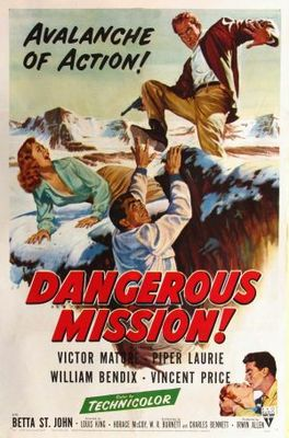 Dangerous Mission movie poster (1954) poster MOV_6aac701a