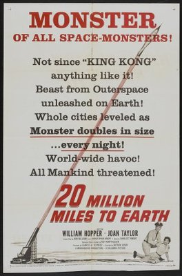 20 Million Miles to Earth movie poster (1957) poster MOV_6cc82745