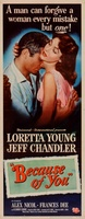 Because of You movie poster (1952) picture MOV_6d926d4f