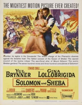 Solomon and Sheba movie poster (1959) poster MOV_6dc063c5